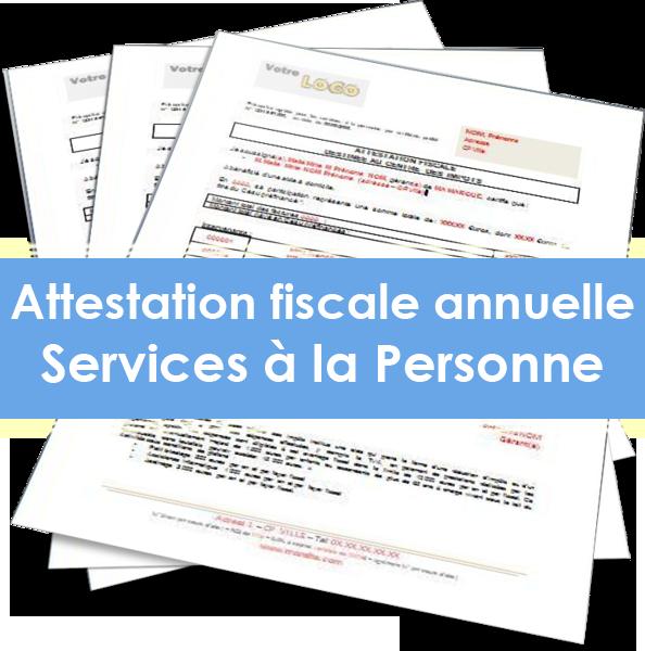 Attestation fiscale annuelle sap agrement for Salon service a la personne