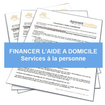 Feuilles représentant une fiche de financement des services à domicile