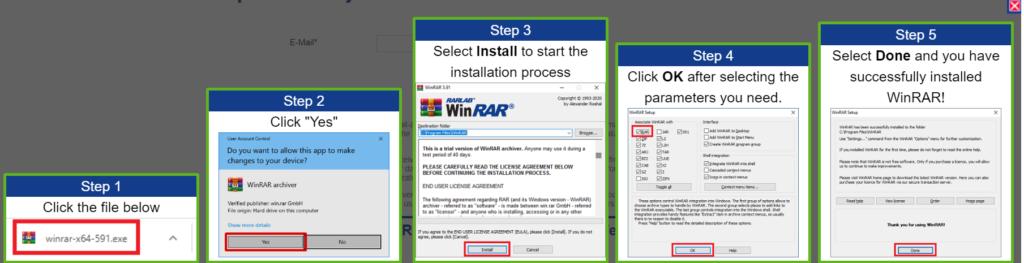Comment installer winrar pour décompresser ses fichiers ?